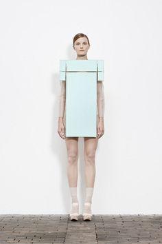Sculptural Fashion exploring purity, minimalism & irony; conceptual fashion design; wearable art // Maxime Rappaz