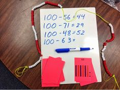 How to make 100 bead strings for use in your classroom.  Great manipulative with many uses in grades K-4!!!!!!  Cost is under 90 cents each!