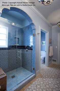 The curves of this arched shower entry feel subtly Moorish — an impression that's enhanced by the exotic air of the shower and floor tiles. Description from pinterest.com. I searched for this on bing.com/images