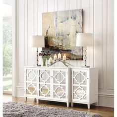 Add contemporary elegance to your home with this Home Decorators Collection Reflections White Storage Cabinet. Entry Hall Furniture, Home Decor Furniture, Home Decor Bedroom, Living Room Decor, Diy Home Decor, Cabinet Furniture, Living Rooms, Bedroom Ideas, Entryway Cabinet