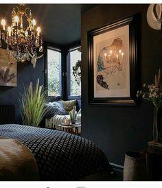 black bedroom luxury decor small bedroom idea vintage style bedroom scandinavian bedroom design Like the bed spread Home Decor Bedroom, Apartment Interior, Scandinavian Bedroom, Luxury Decor, Luxurious Bedrooms, Home Decor, Scandinavian Design Bedroom, Bedroom Vintage, Vintage Bedroom Styles