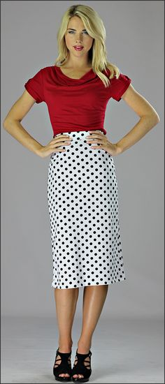 Pencil Skirt Med Length [W2093] - $34.99 : Mikarose Fashion, Reinventing Modest Fashion