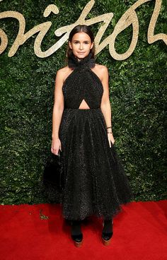 Miroslava Duma in Rasario attends the British Fashion Awards 2015 on November 23, 2015