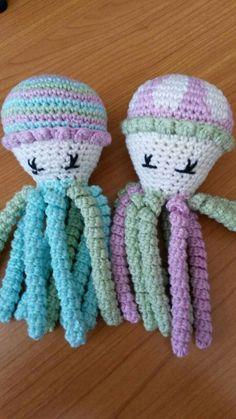 Deze inktvisjes zijn gemaakt door Mady Verdonschot.