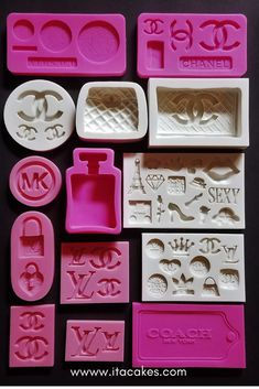 We carry all fashion molds and designer brands silione mold like Louis Vuitton, Michael Kors, Versace, and Chanel. Diy Resin Art, Diy Resin Crafts, Diy And Crafts, Arts And Crafts, Resin Molds, Silicone Molds, Chanel Birthday Party, Chanel Party, Chanel Decor
