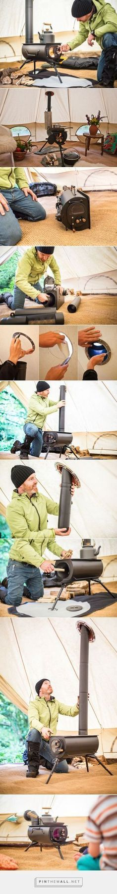 Portable Woodburning Stove Can Be Installed in Tents Teepees or Small Cabins. Portable Woodburning Stove Can Be Installed in Tents Teepees or Small Cabins. Zelt Camping, Camping Diy, Camping Survival, Camping Gear, Camping Hacks, Outdoor Camping, Backpacking, Camping Essentials, Bushcraft Camping