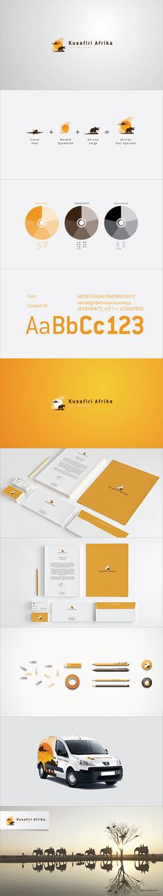 "Kusafiri Afrika is a young and upcoming Mozambican tour operator. Its team is composed by young, dynamic and active professionals who bring personalized tour services to their clients. Kusafiri is a swahili word that means ""to travel"", thus the logo incorporates both elements from Africa and traveling, to portrait not only the company's name but also their activities and values."
