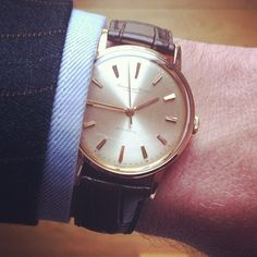 A vintage automatic watch International Watch Co. (today simply IWC) of the 1960s. It's 35mm but just perfect.