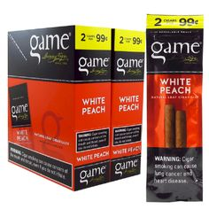 f6f27ce37c9b Game White Peach Cigars 2 for 99¢ Cigarillos 60ct