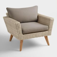 teak wood and all weather wicker hakui chairs set of 2 | carla r
