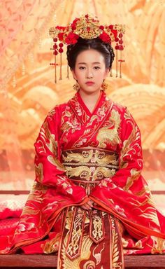 Traditional Chinese Southern and Northern Dynasties Palace Princess Wedding Costume, Chinese Ancient Bride Embroidered Red Clothing for Women Traditional Fashion, Traditional Chinese, Chinese Style, Chinese Fashion, Chinese Bride, Zodiac Sign Fashion, Dress Drawing, Wedding Costumes, Chinese Culture