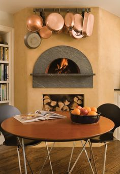 Indoor Wood Fired Pizza Ovens eclectic-larder