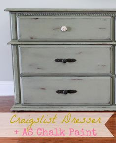 Craigslist Dresser Makeover with Chateau Gray ASCP