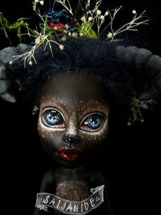 monster high doll ooak custom repaint forest creature Soetkin by Saijanide
