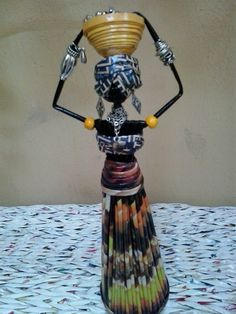 Scare Crow, Paper Art, Paper Crafts, African Paintings, African Crafts, Haiti, Goku, Paper Dolls, Newspaper