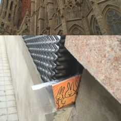 My proxies dropped this love bunny tile in front of the most famous landmark in Barcelona - Sagrada Familia. Go get it!  #fafatl #barcelona #freeart #freeartsmovement
