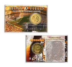 Washington Redskins Bronze Coin Card - Stadium