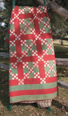 1893 Nine Patch Vintage Bed Quilt The maker of the original quilt used matching nine patches in opposite corners of the Double Nine-Patch Blocks. Plan your block arrangement accordingly if you wish to