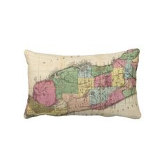Vintage Map of Florida (1870) Throw Pillow from Zazzle.com $52.00