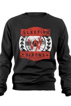 Broken Record Crewneck Sweatshirt (Black)