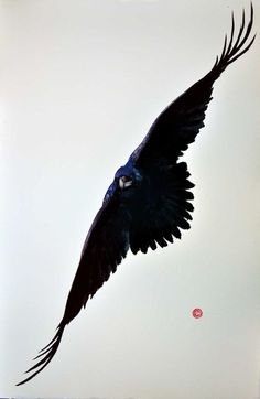 Stars and a Wind Trilogy by Barbara Gaskell Denvil - A White Horizon - The Wind from the North - The Singing Star Crow Art, Bird Art, Karl Martens, Watercolor And Ink, Watercolor Paintings, Raven Bird, Art Aquarelle, Detailed Paintings, Crows Ravens