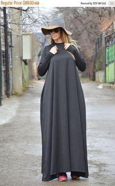 Extravagant Long Dress Dark Grey Dress Plus Size Long
