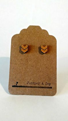 Chevron on Alder Wood Laser Engraved Cut and Hand by JuniperandIvy, $12.00