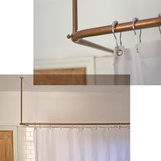 Copper pipes shower curtain rail www.thisisladyland.com