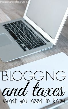 I know blogging and taxes aren't the most fun topic. They can be confusing, boring and overwhelming for lots of people.