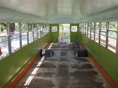 Old+School+Bus+Conversions+interior | Here it is! Interior of the bus painted (except a few spots I have to ...