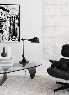 Black, White, And Gray All Over: Monochromatic Copenhagen Townhouse