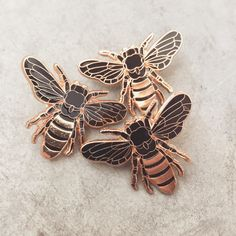 Rose Gold Honey Bee Lapel Pin