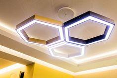 Светильник в виде пчелиных сот Led Light Design, Ceiling Light Design, False Ceiling Design, Lighting Design, Office Furniture Inspiration, Convertible Furniture, Wood Pendant Light, Led Diy, Dream Furniture