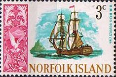 Norfolk Island 1967 Ships Fine Mint SG 79 Scott 102 Other European and British Commonwealth Stamps HERE!