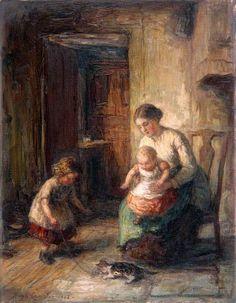 The Kitten, Hugh Cameron (1835-1918,Scottish)
