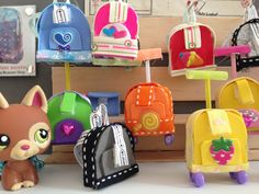 How to make a LPS school backpack and trolley