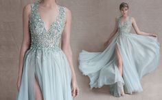 Can't get over the detail with this one. Paolo Sebastian couture dress.
