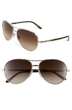a835504cbd5 Burberry Metal Aviator Sunglasses
