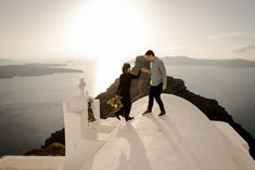 Engagement in Santorini - Jenny and Fanis Destination Wedding, Wedding Planning, Santorini Wedding, Greece, Engagement, Pictures, Photography, Inspiration, Beautiful