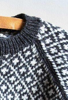 Færøsk sweater til børn i traditionelt mønster - strikkekit