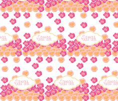 Rose drops-sorbet-Personalized fabric by drapestudio on Spoonflower - custom fabric -http://www.spoonflower.com/designs/3948180