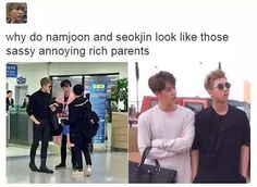 #NamJin heheheee *ahem ahem* HAWT parents