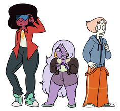The Cool Kids and the Crystal Gems outfit swap
