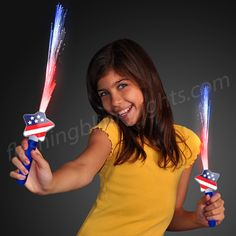 Get your little ones this Stars & Stripes LED Light Wand! It's the safer version of a sparkler, and it's like having a firework show in the palm of your hand! Kids (and adults) love waving their wand high on the 4th and all year round!