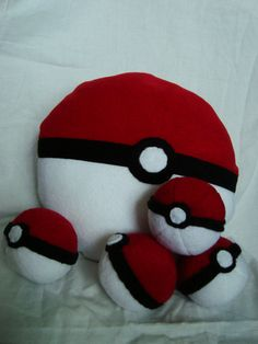 Pokemon Inspired Pokeball Pillow by ComfyCornerCreations on Etsy, $12.00
