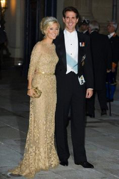 Oct 19 - Prince Pavlos and Princess Marie Chantal of Greece attend the Gala dinner at the Grand-ducal Palace, in Luxembourg.