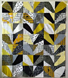 Citron Leaves 43x51 Cultural Fusion Quilts by Sujata Shah