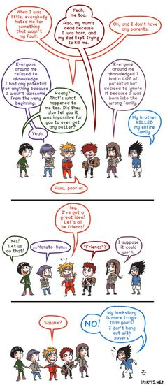 Bad Sasuke! Oh my, this is funny yet eerily accurate... #Naruto