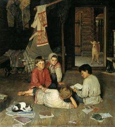 "Nikolai Petrovich Bogdanov-Belsky  ""New Tale"""