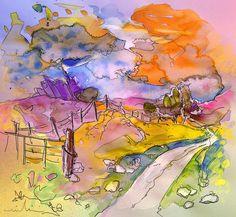 Scotland 22. Artist:Miki De Goodaboom. Medium:Painting - Mixed Technique
